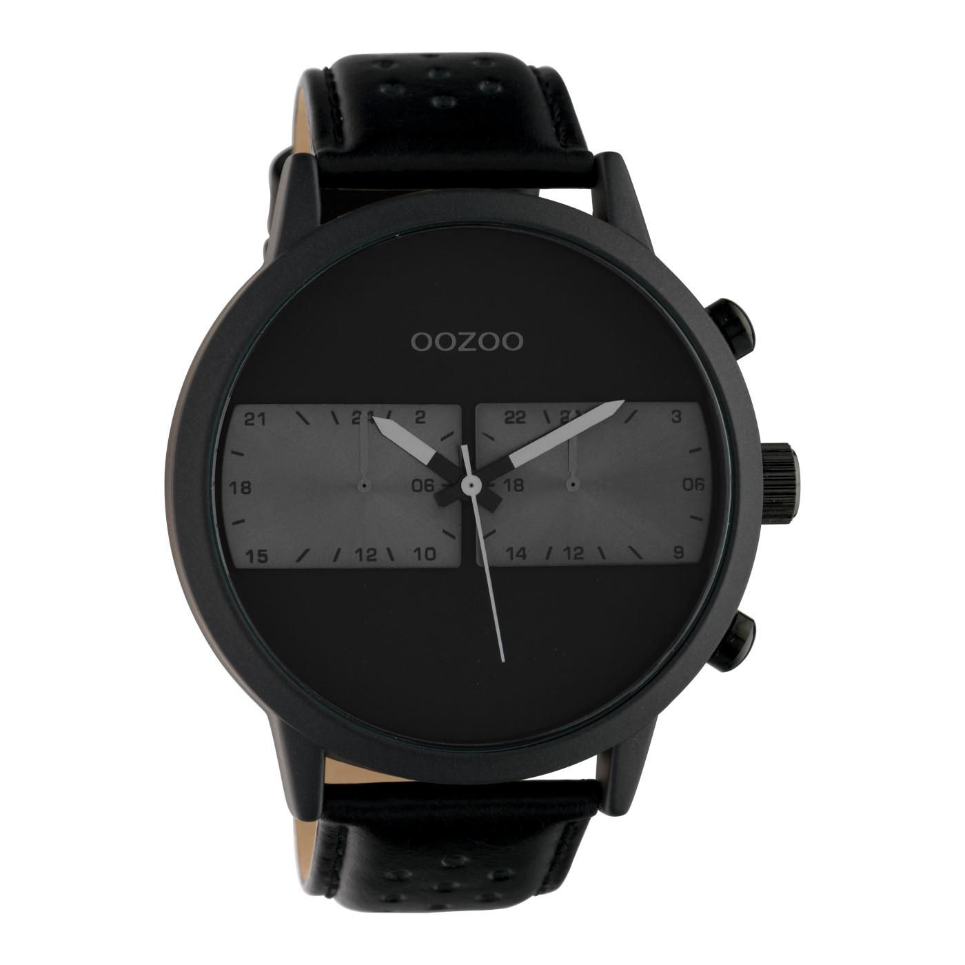 OOZOO Timepieces Zwart/Grijs horloge C10304 (50 mm)