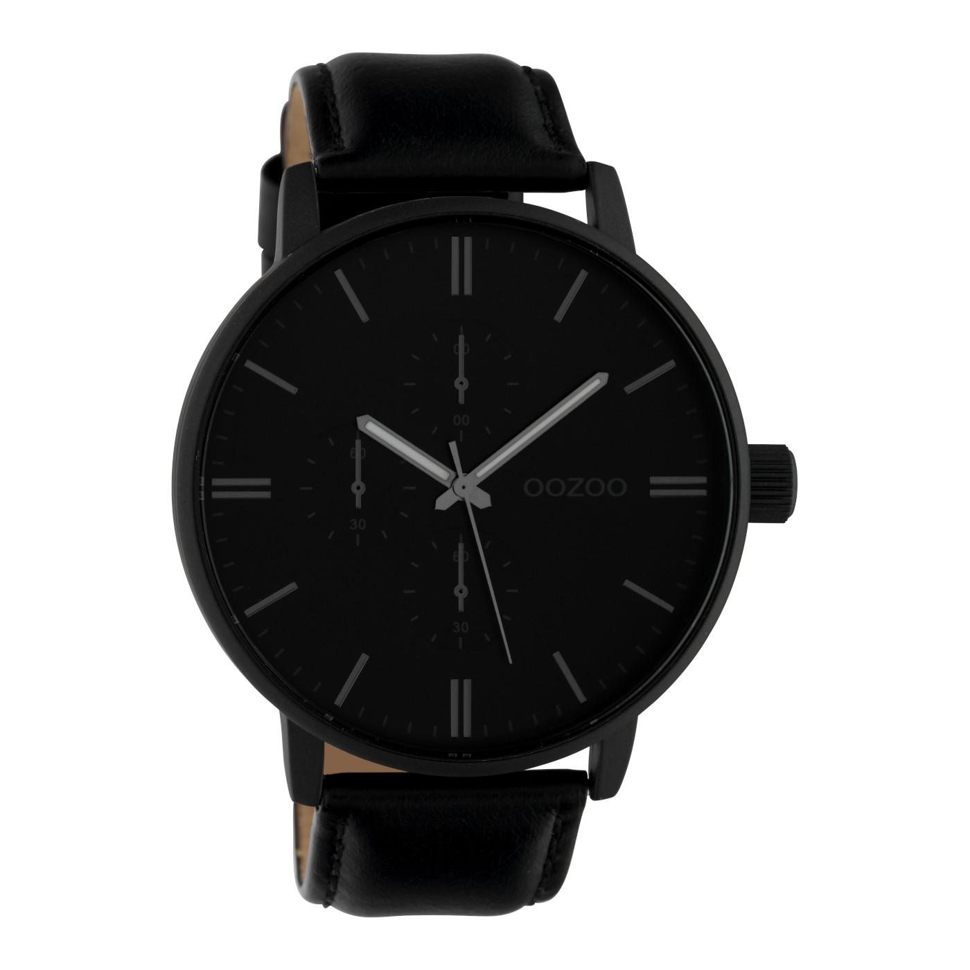 OOZOO Timepieces Zwart/Blauw horloge C10314 (50 mm)