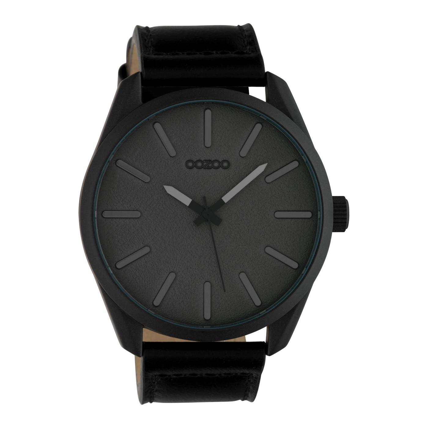 OOZOO Timepieces Zwart/Grijs horloge C10324 (48 mm)