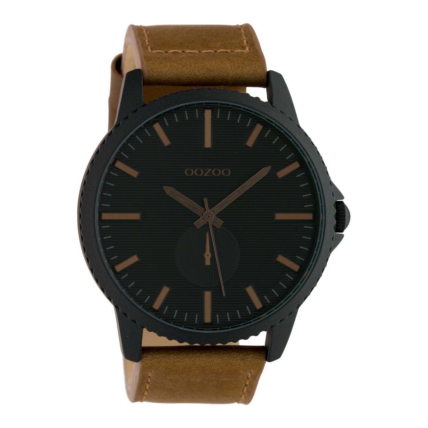 OOZOO Timepieces Bruin/Zwart horloge C10333 (48 mm)