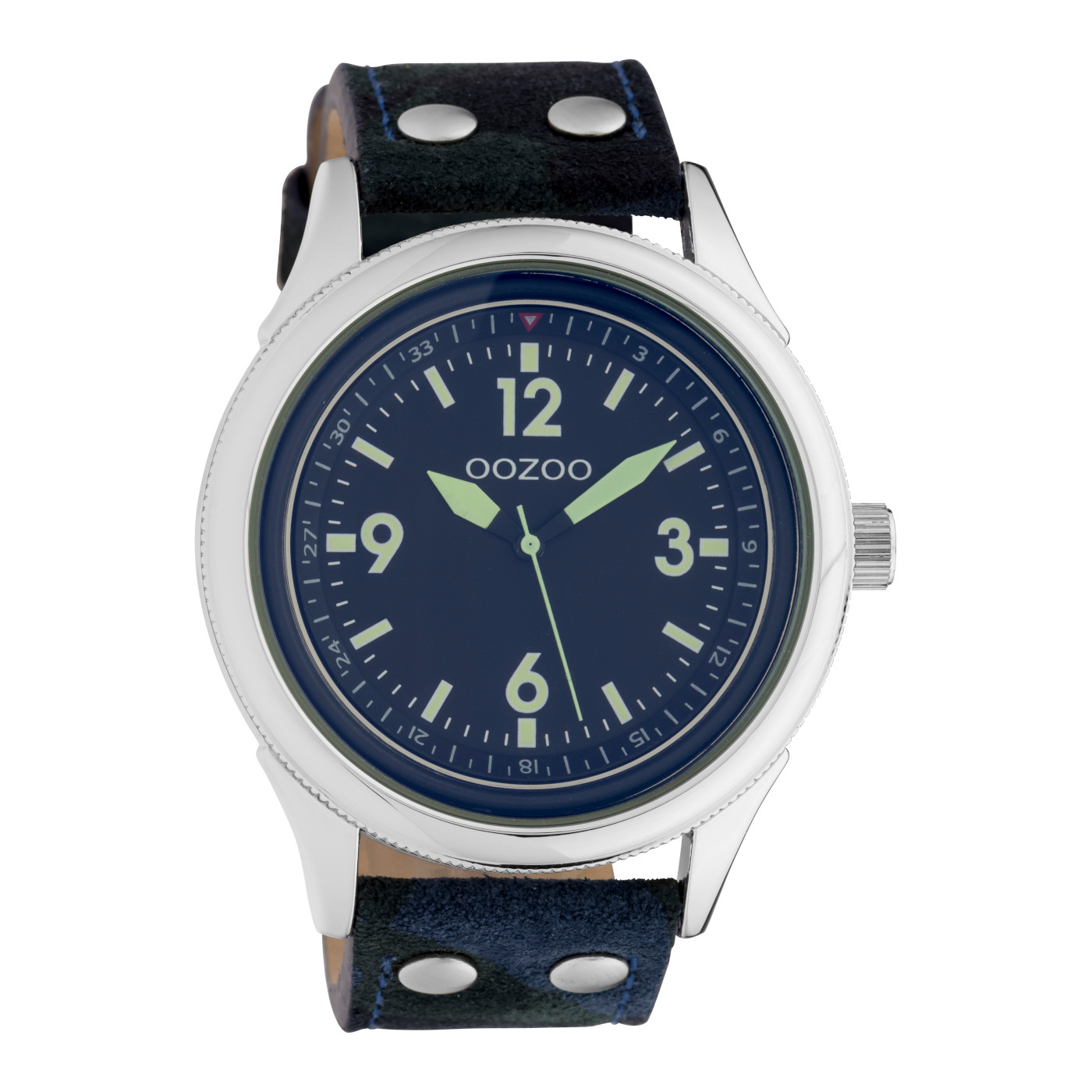 OOZOO Timepieces Camouflage/Blauw horloge C10350 (48 mm)