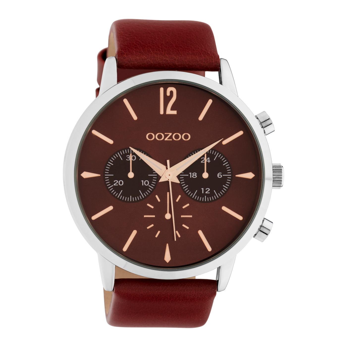 OOZOO Timepieces Burgundy horloge C10356 (48 mm)