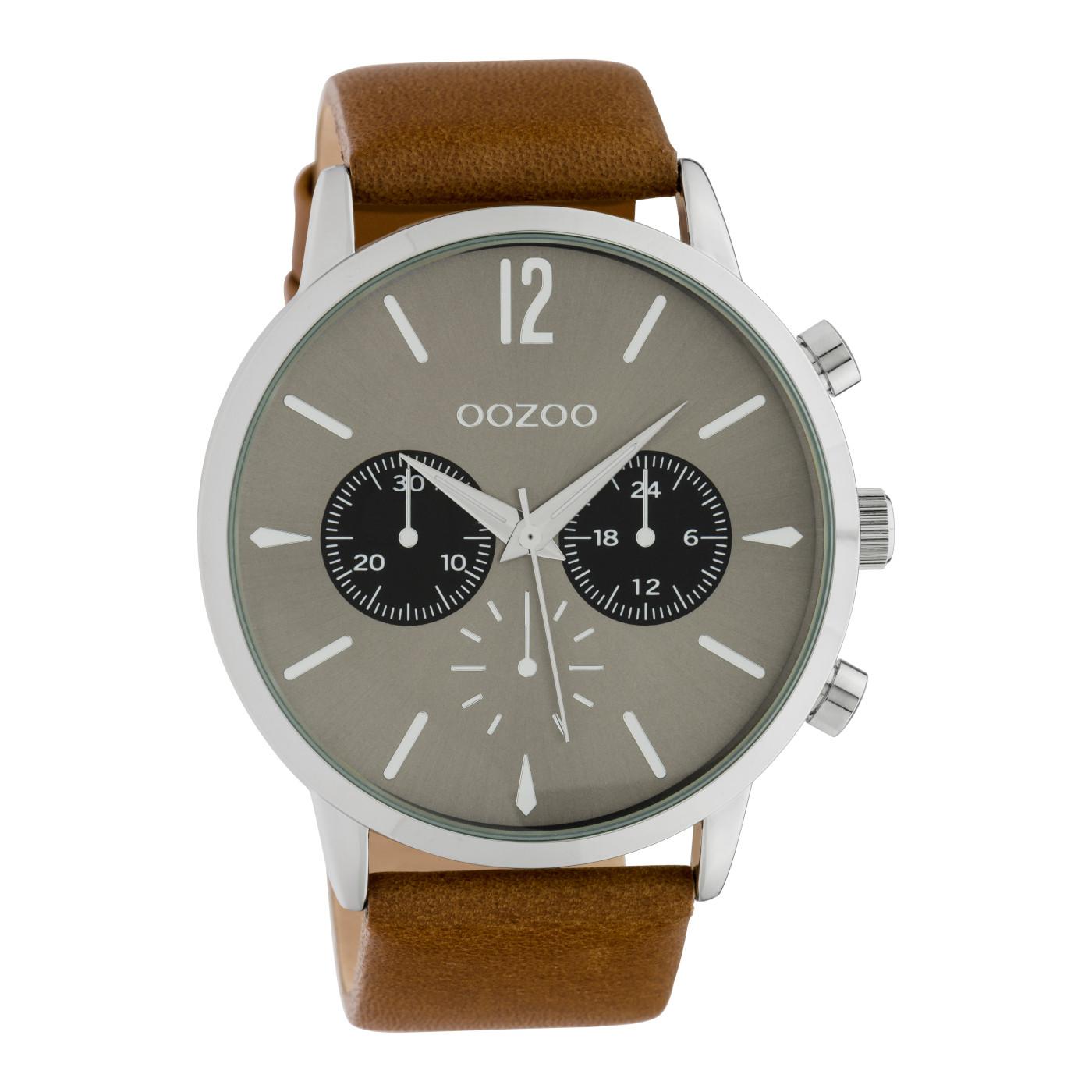 OOZOO Timepieces Bruin/Grijs horloge C10357 (48 mm)