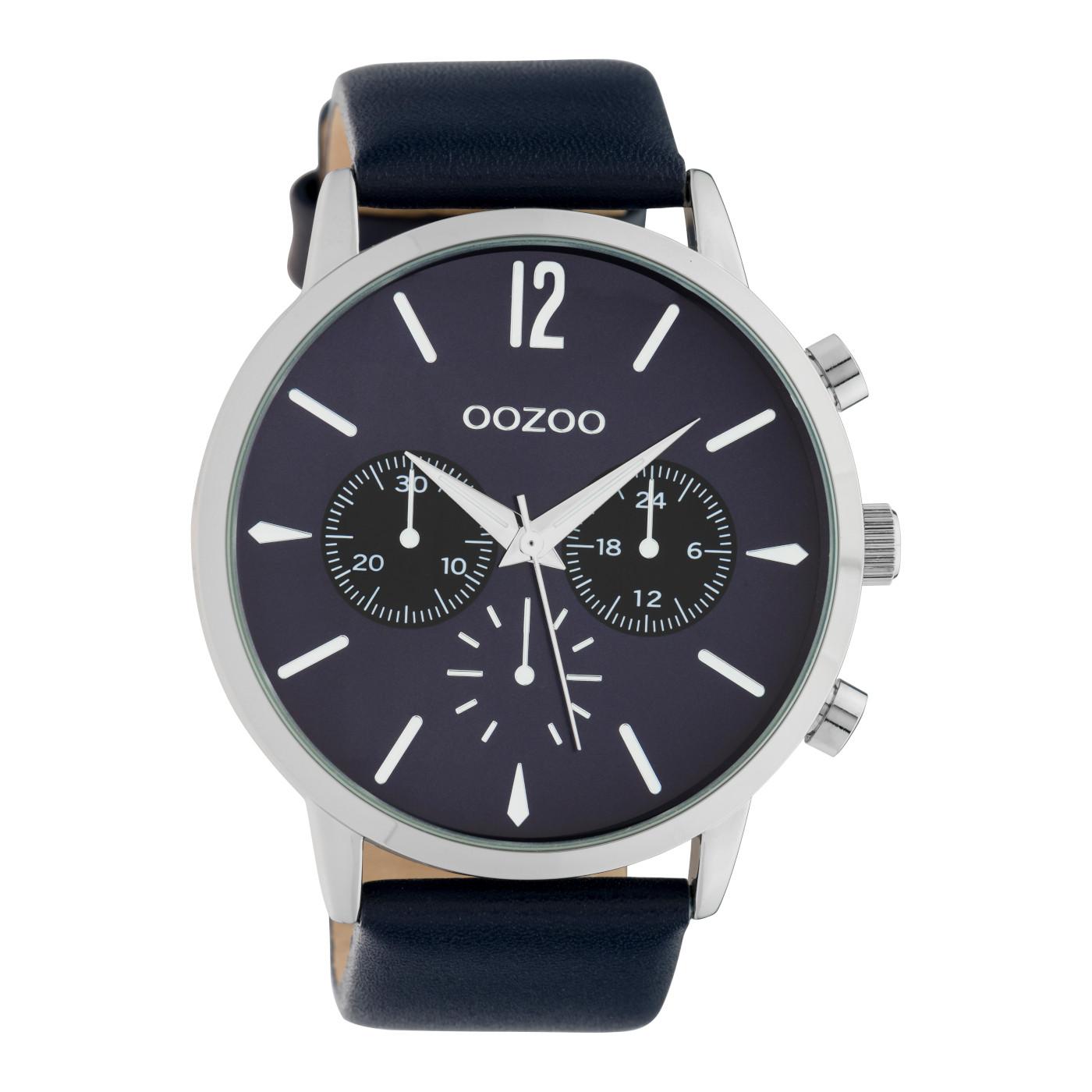 OOZOO Timepieces Blauw horloge C10358 (48 mm)