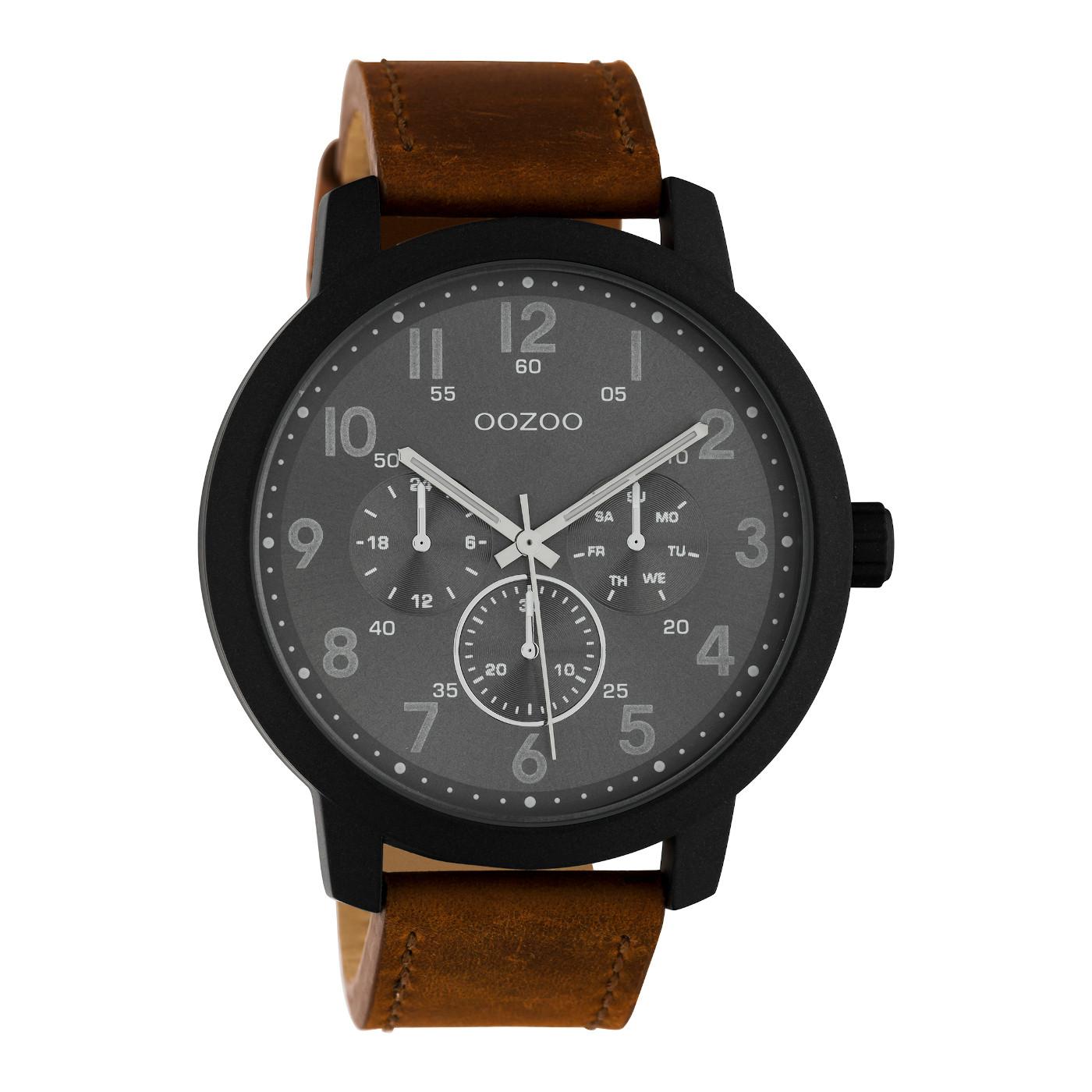 OOZOO Timepieces BruinGrijs horloge C10507