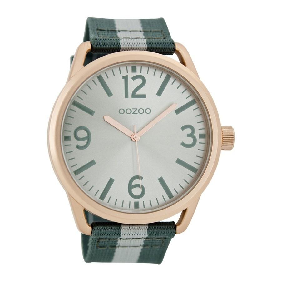 OOZOO Timepieces horloge Groen/Wit C7052
