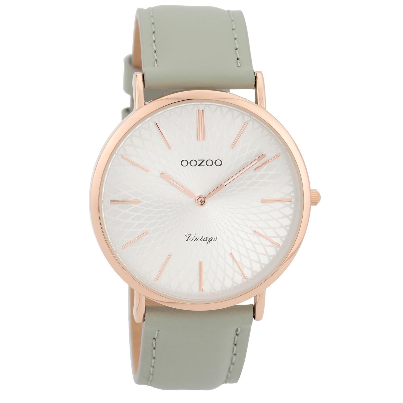 OOZOO Vintage Grijs/Zilverkleurig horloge C9334 (40 mm)