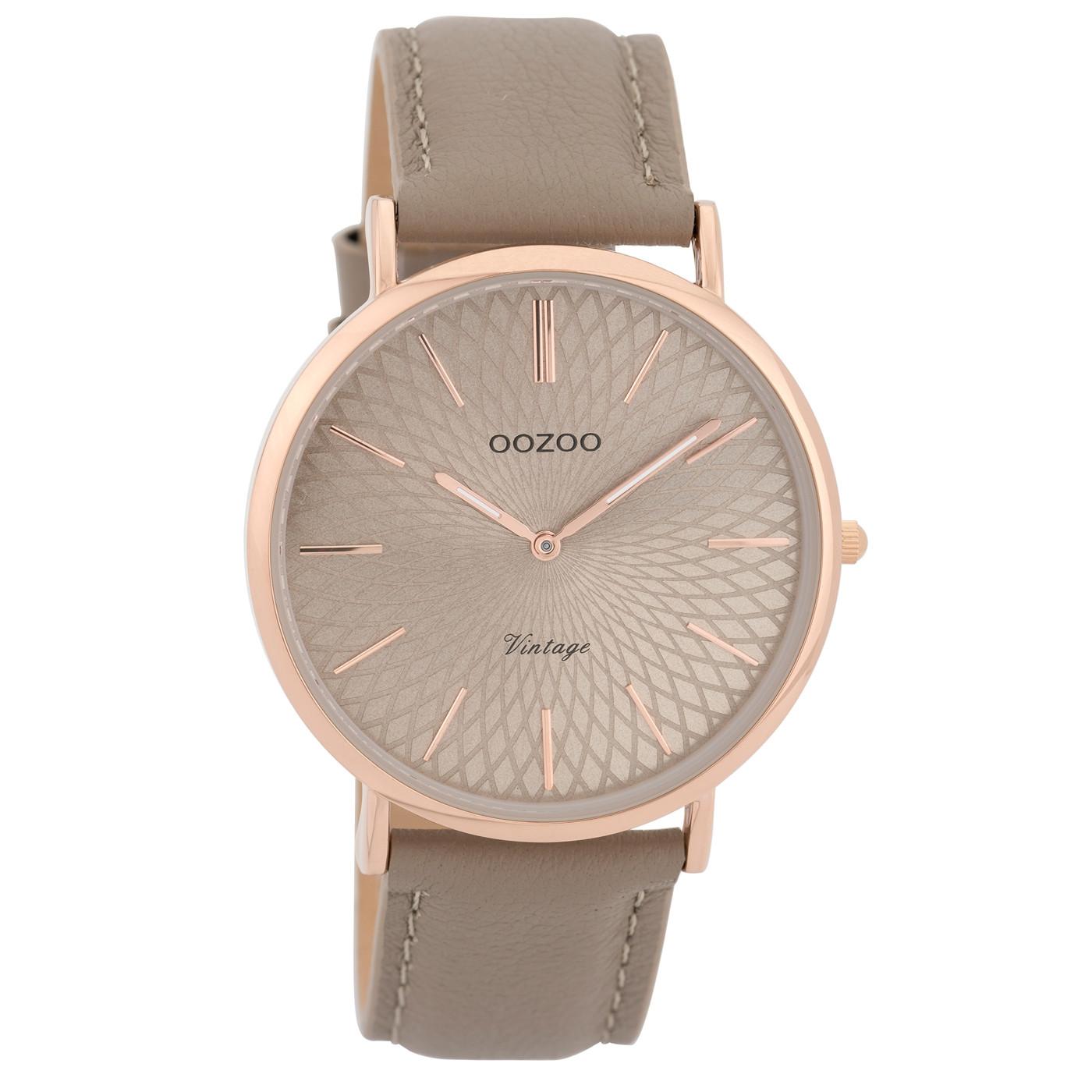 OOZOO Vintage Taupe horloge C9335 (40 mm)