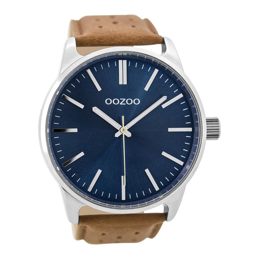 OOZOO Timepieces Bruin/Blauw horloge C9422 (48 mm)