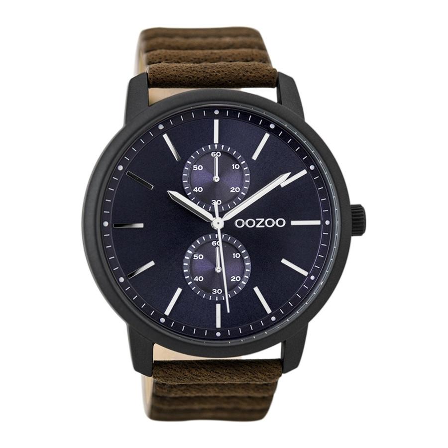 OOZOO Timepieces Bruin/Blauw horloge C9453 (45 mm)