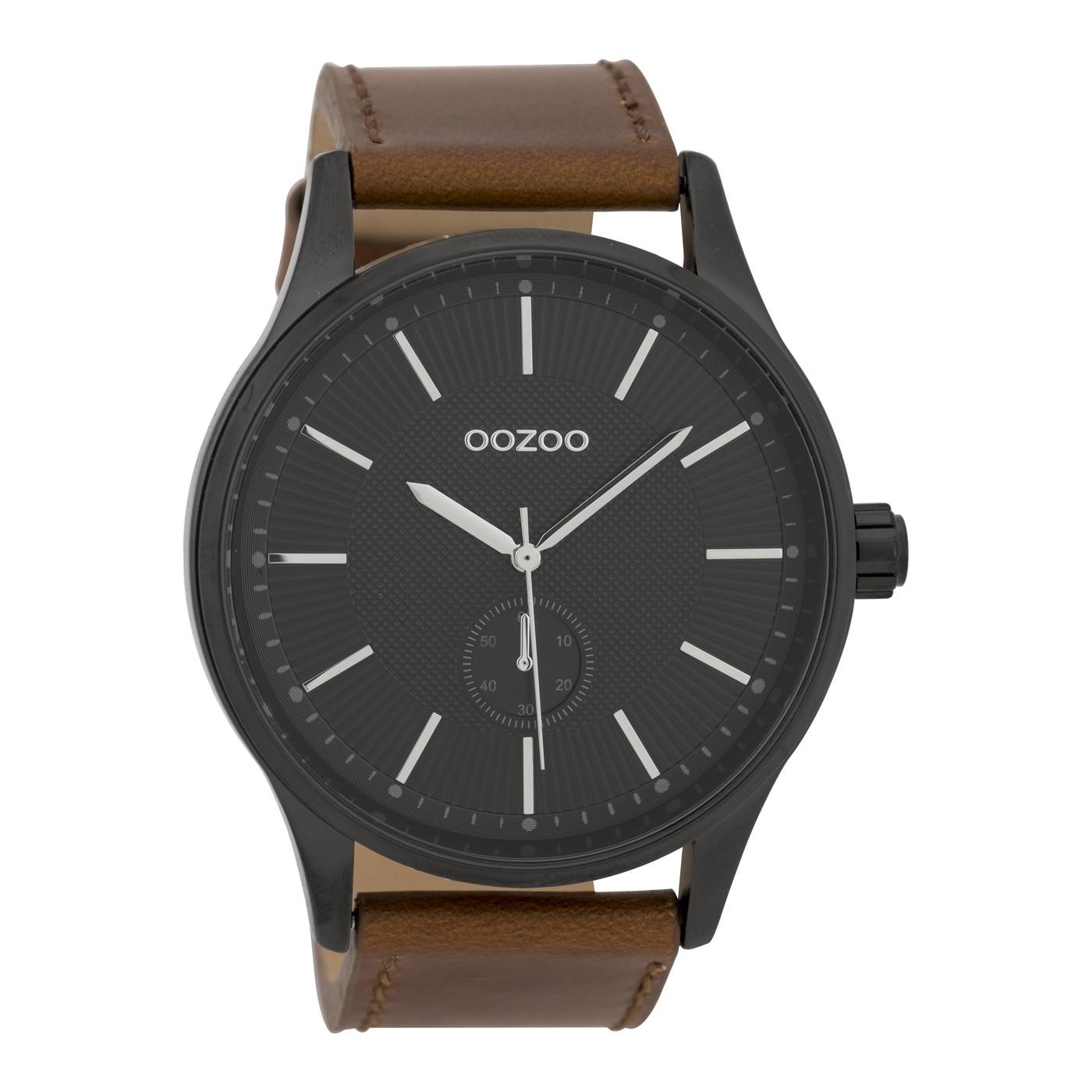 OOZOO Timepieces Bruin/Zwart horloge C9638 (48 mm)