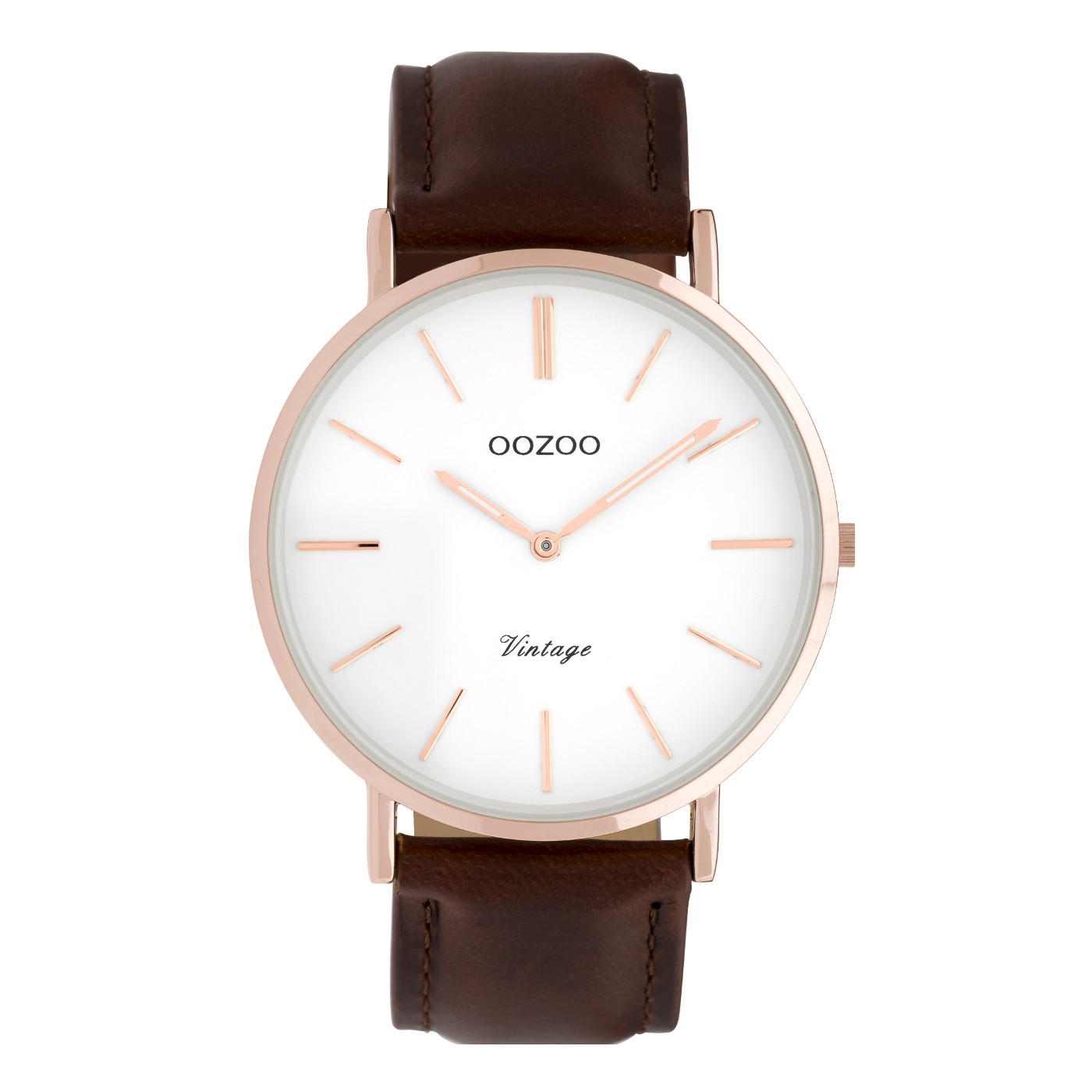 OOZOO Vintage Bruin/Wit horloge C9832 (40 mm)