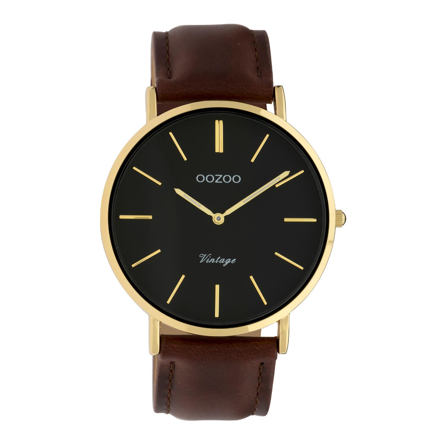 OOZOO Vintage Bruin/Zwart horloge C9833 (40 mm)