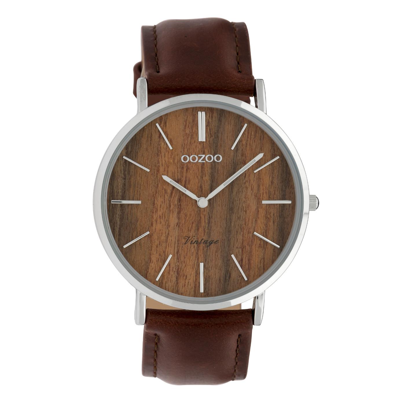 OOZOO Vintage Bruin horloge C9868 (40 mm)