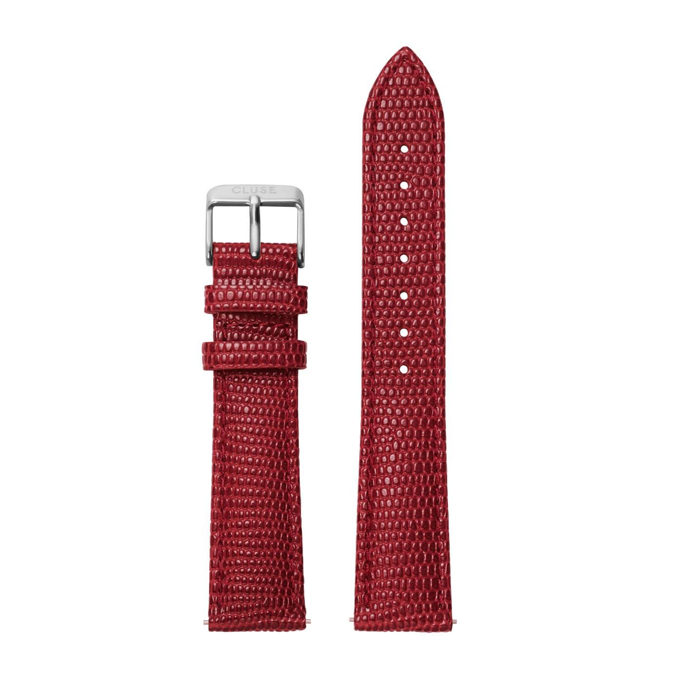CLUSE Strap 18 mm La Boheme Scarlet Red Lizard CLS081