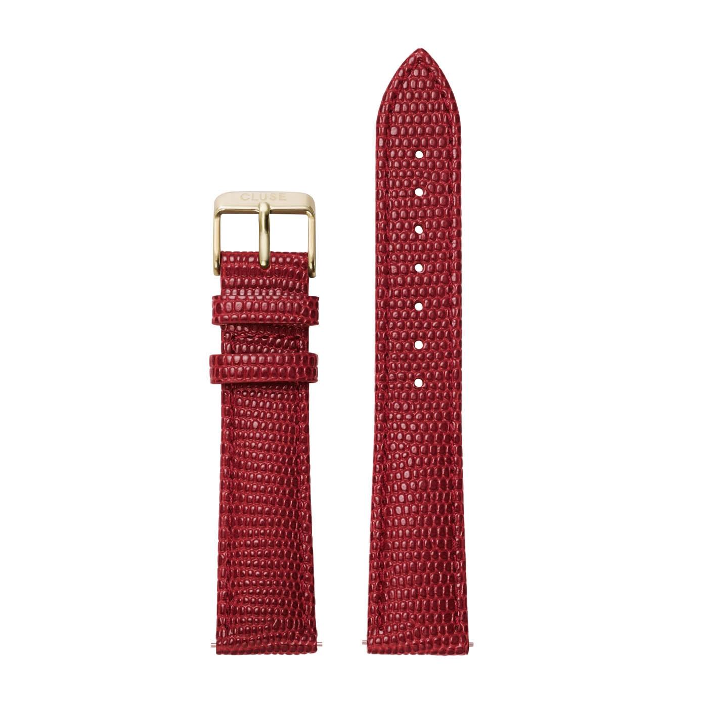CLUSE Strap 18 mm La Boheme Scarlet Red Lizard CLS082