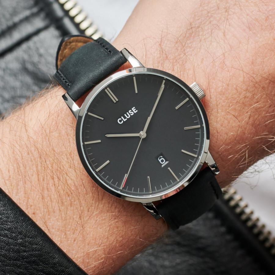 CLUSE Aravis Zilverkleurig/Black horloge CW0101501001