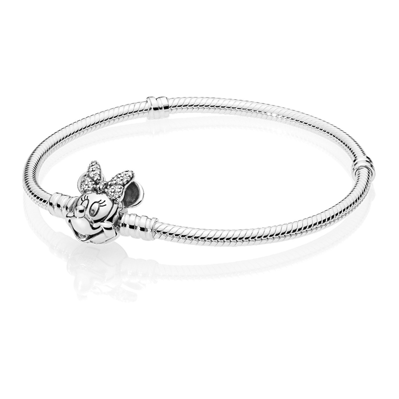 Pandora 925 Sterling Zilveren Disney Minnie Armband 597770CZ (Lengte: 17.00-20.00 cm)
