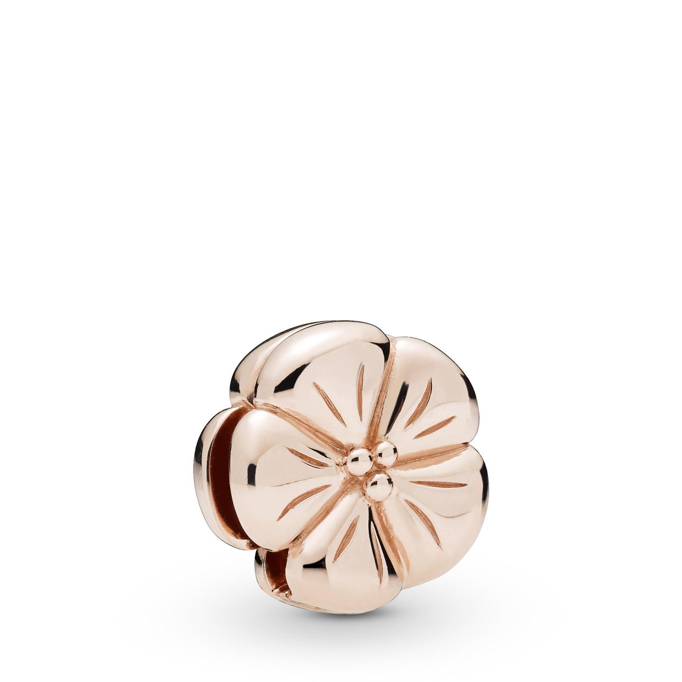 Pandora Reflexions 925 Sterling Zilveren Roségoudkleurige Flower Clip Bedel 787897