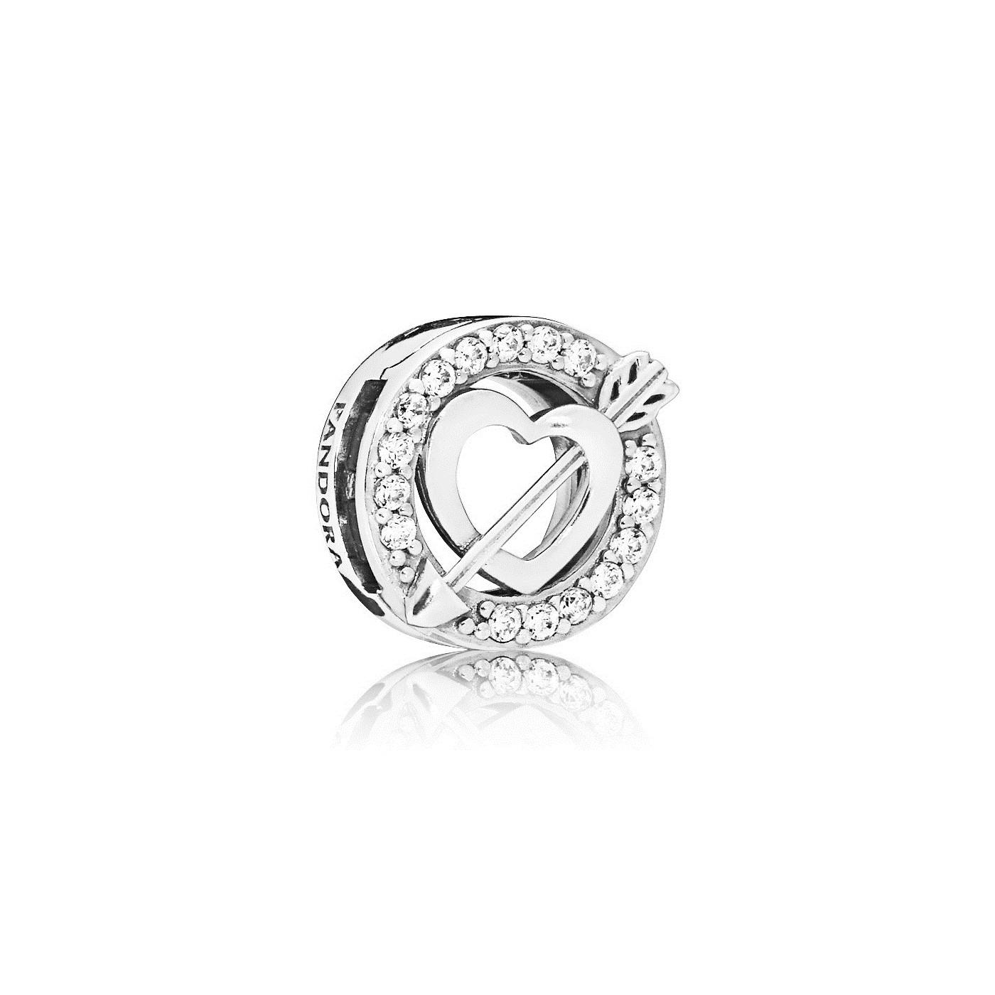 Pandora Reflexions 925 Sterling Zilveren Heart and Arrow Bedel 797793CZ