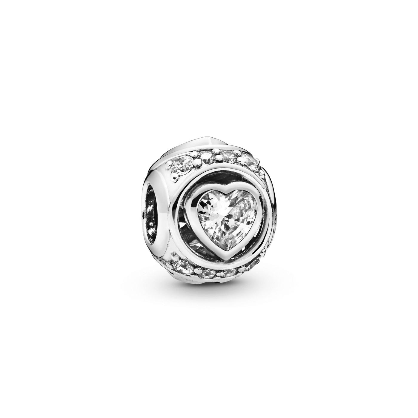 Pandora Moments 925 Sterling Zilveren Heart Bedel 798464C01