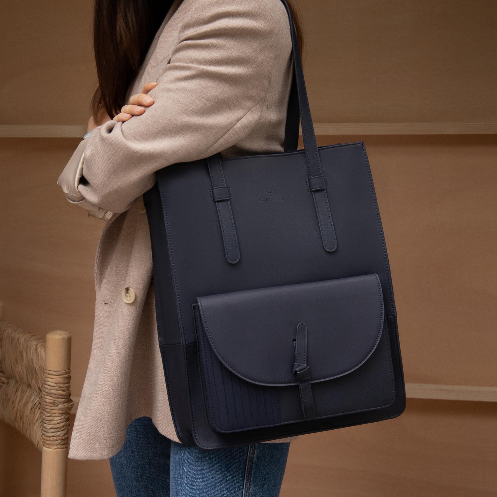 Violet Hamden Essential Bag Deep Sea Blue Shopper VH25002