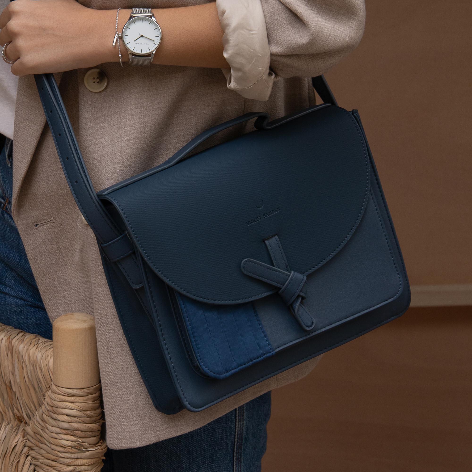 Violet Hamden Essential Bag Deep Sea Blue Satchel VH21002