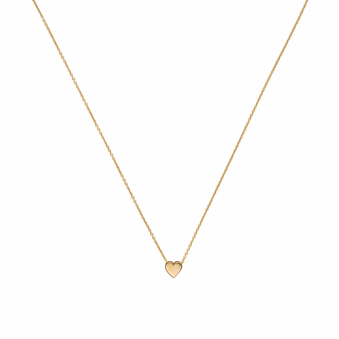 Minitials 18 Karaat Gouden Signature Heart Ketting