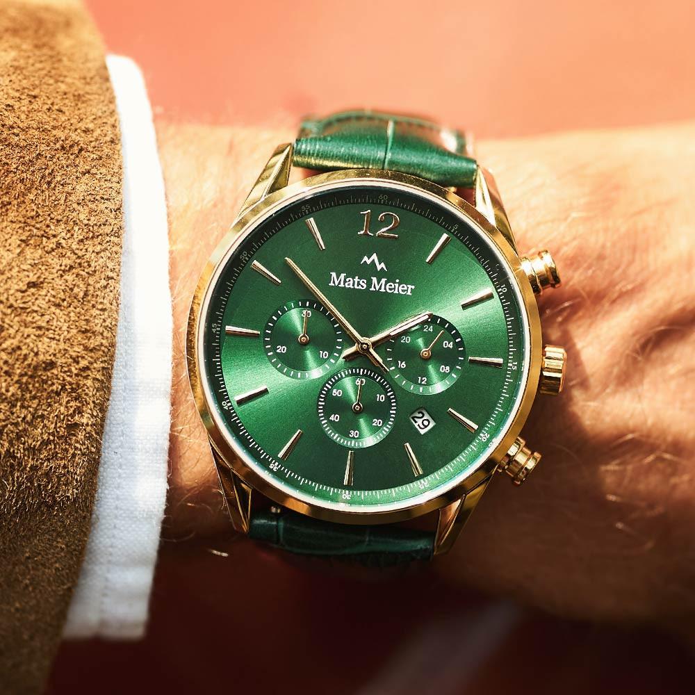 Mats Meier Grand Cornier Chrono Groen horloge MM00122