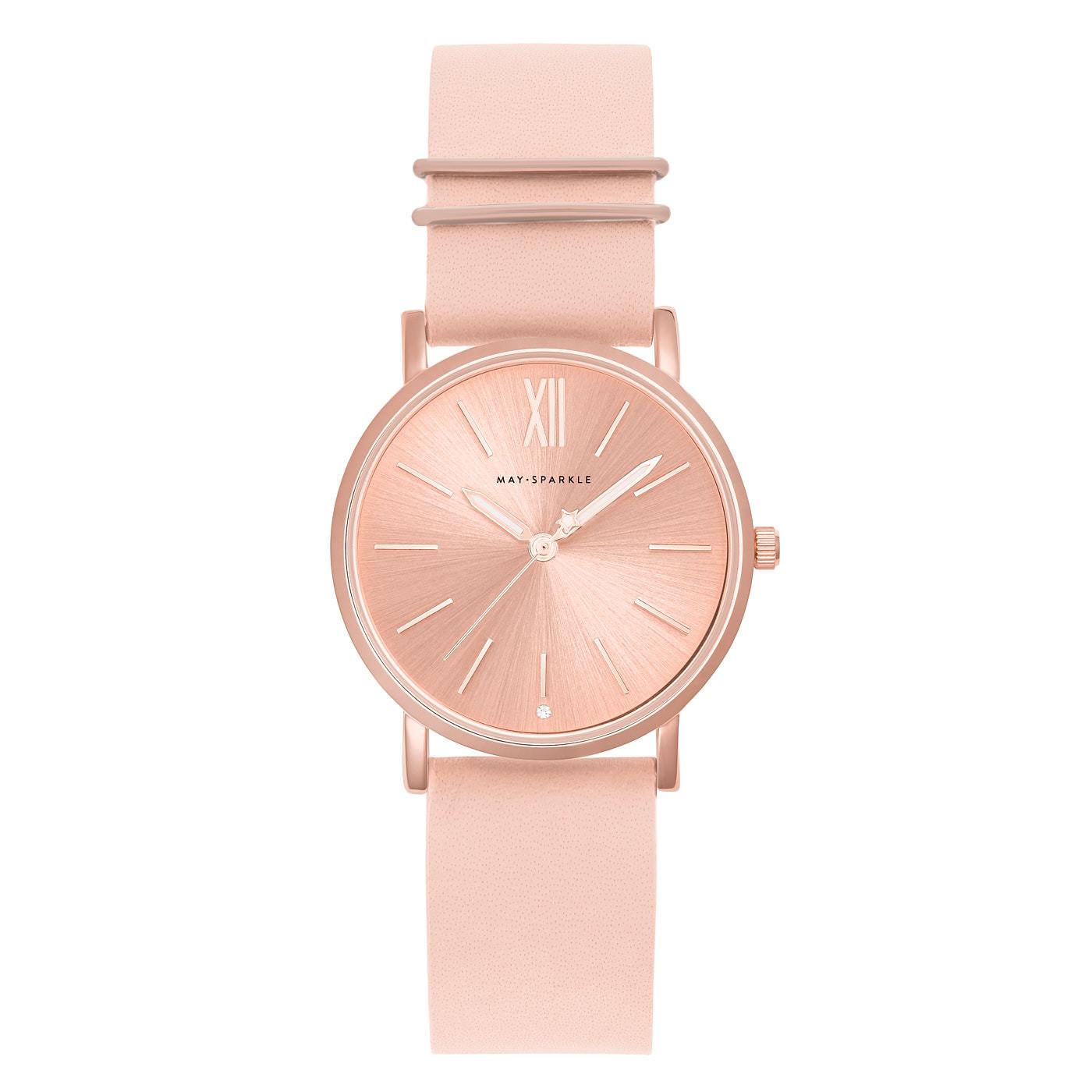 May Sparkle Classy Diva April Roze/Roségoudkleurig horloge MSC001-B