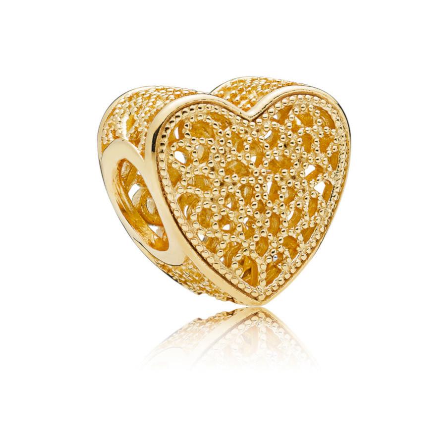 Pandora Moments 925 Sterling Zilveren Goudkleurige Romance Bedel 767155