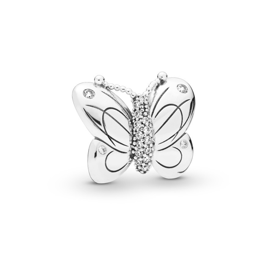 Pandora Moments 925 Sterling Zilveren Oversized Butterfly Bedel 797880CZ