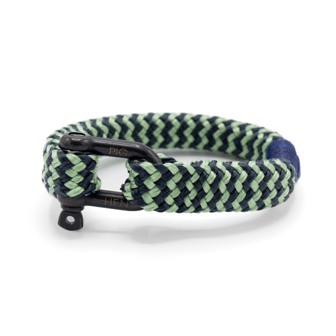 Pig and Hen Gorgeous George Mint Green/Slate Gray Stripe Armband P14-SS19-251822 (Lengte: 17.00-20.00 cm)