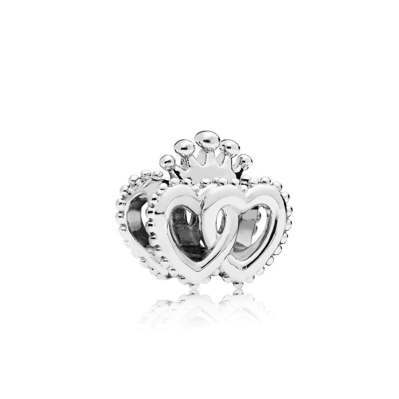 Pandora Moments 925 Sterling Zilveren Crowned Hearts Bedel 797670