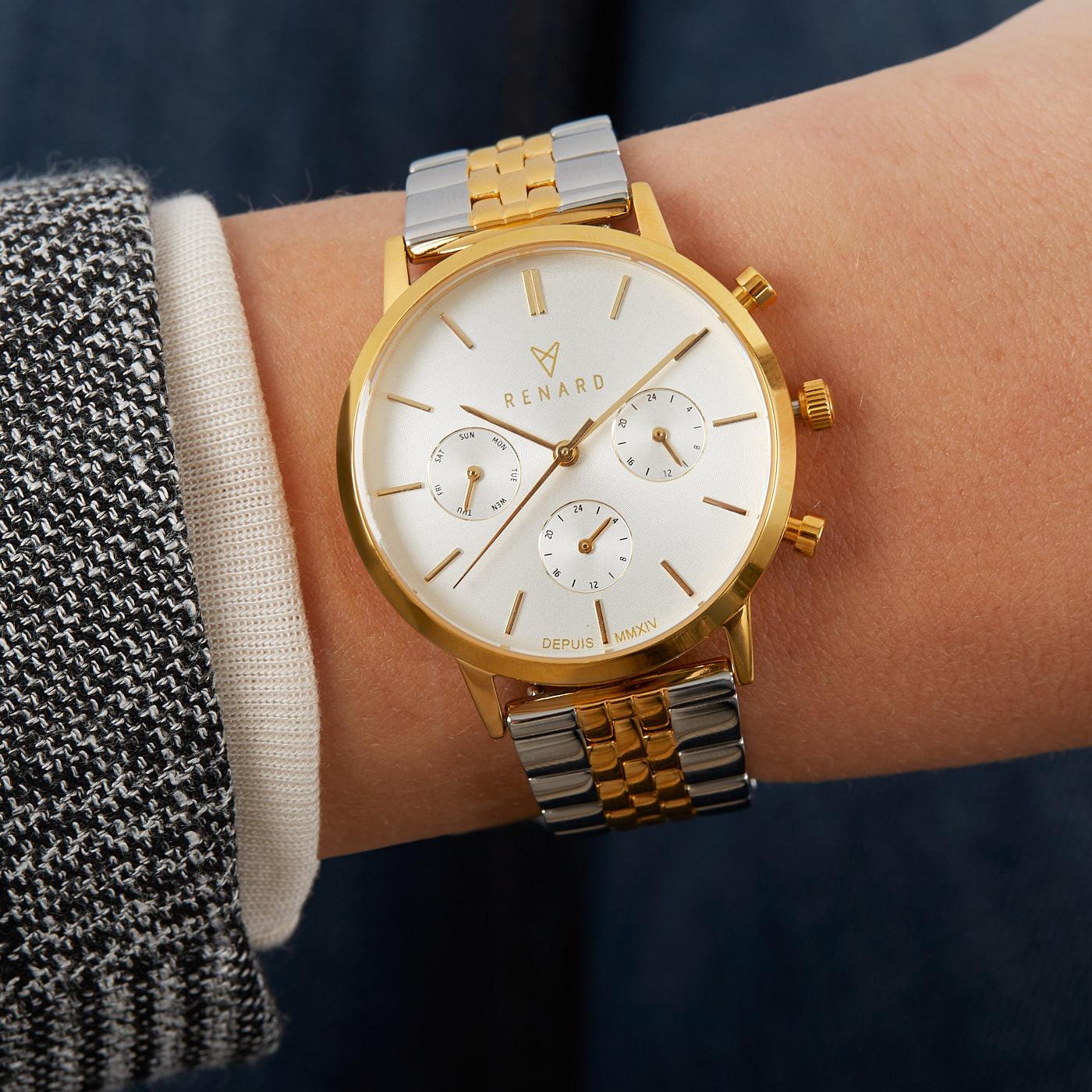 Renard Elite 35.5 Chronograaf Horloge en Strap Giftset RW90002