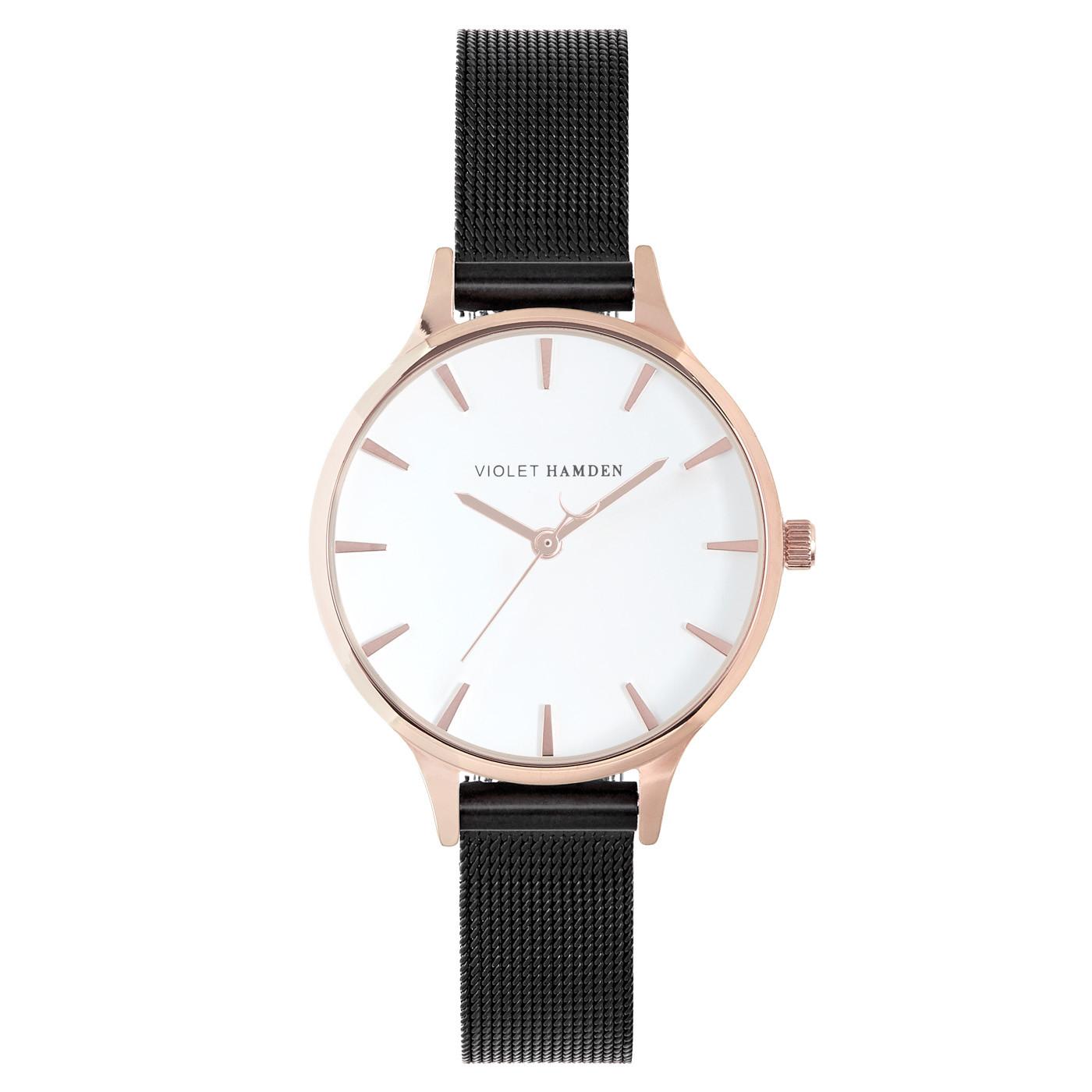 Violet Hamden Day & Night Rose Iron Black horloge VH01025 (32 mm)