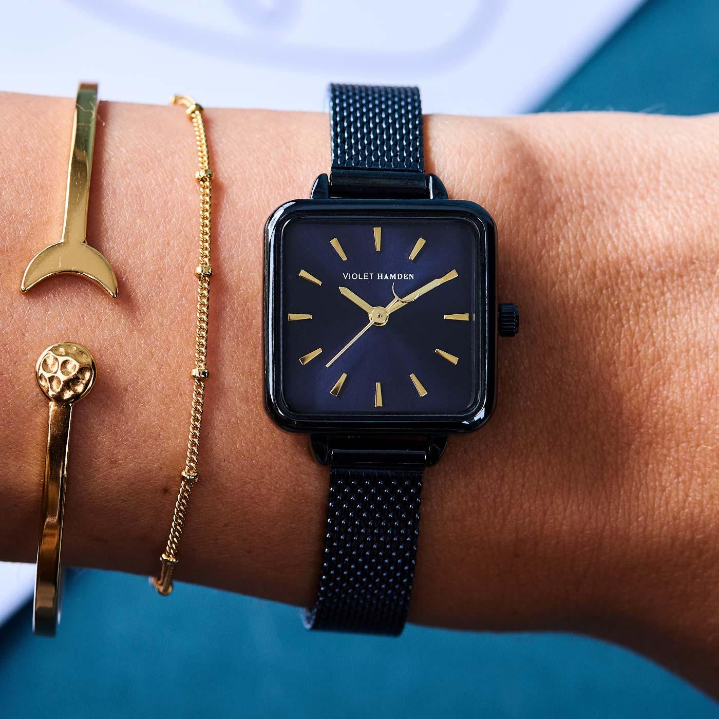 Violet Hamden Dawn Dark Blue horloge VH05008
