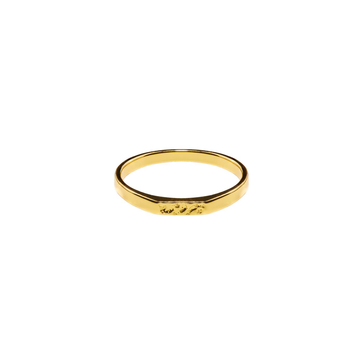 Violet Hamden 925 Sterling Zilveren Goudkleurig Venus Hammered Ring VH13026G