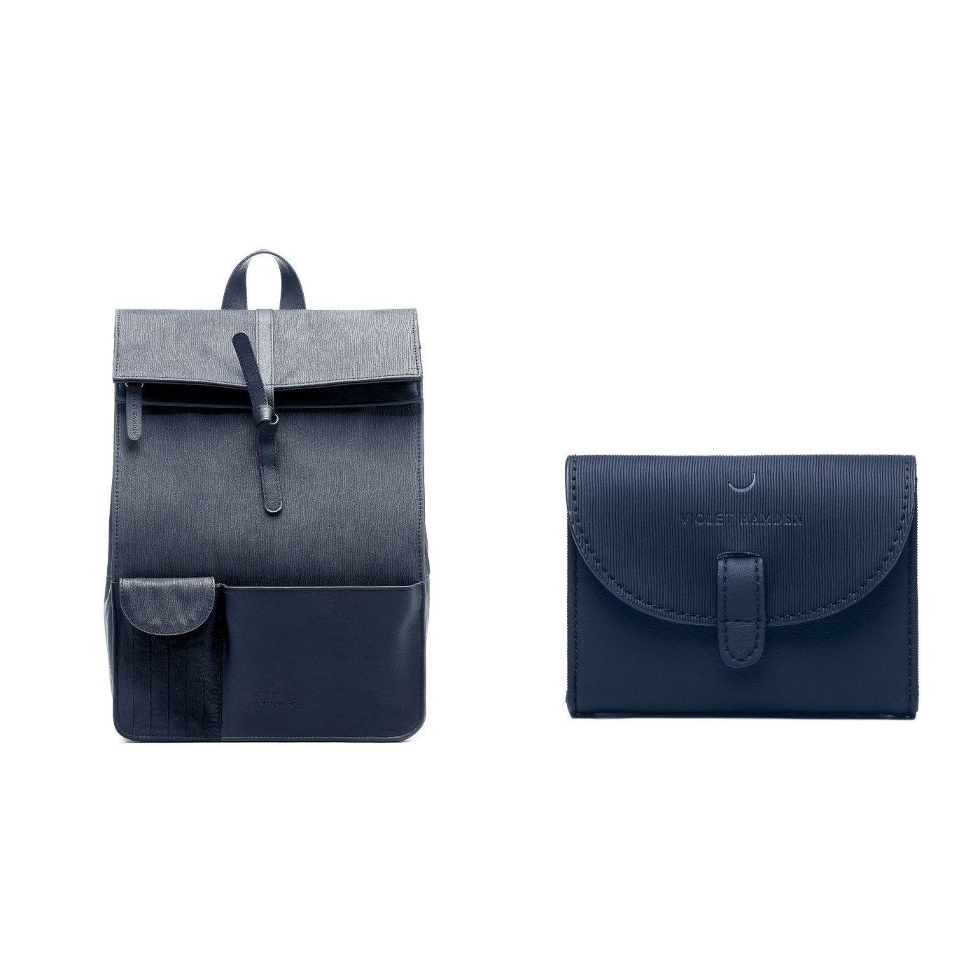 Violet Hamden | Deep Sea Blue Rugzak en Deep Sea Blue Portemonnee Giftset