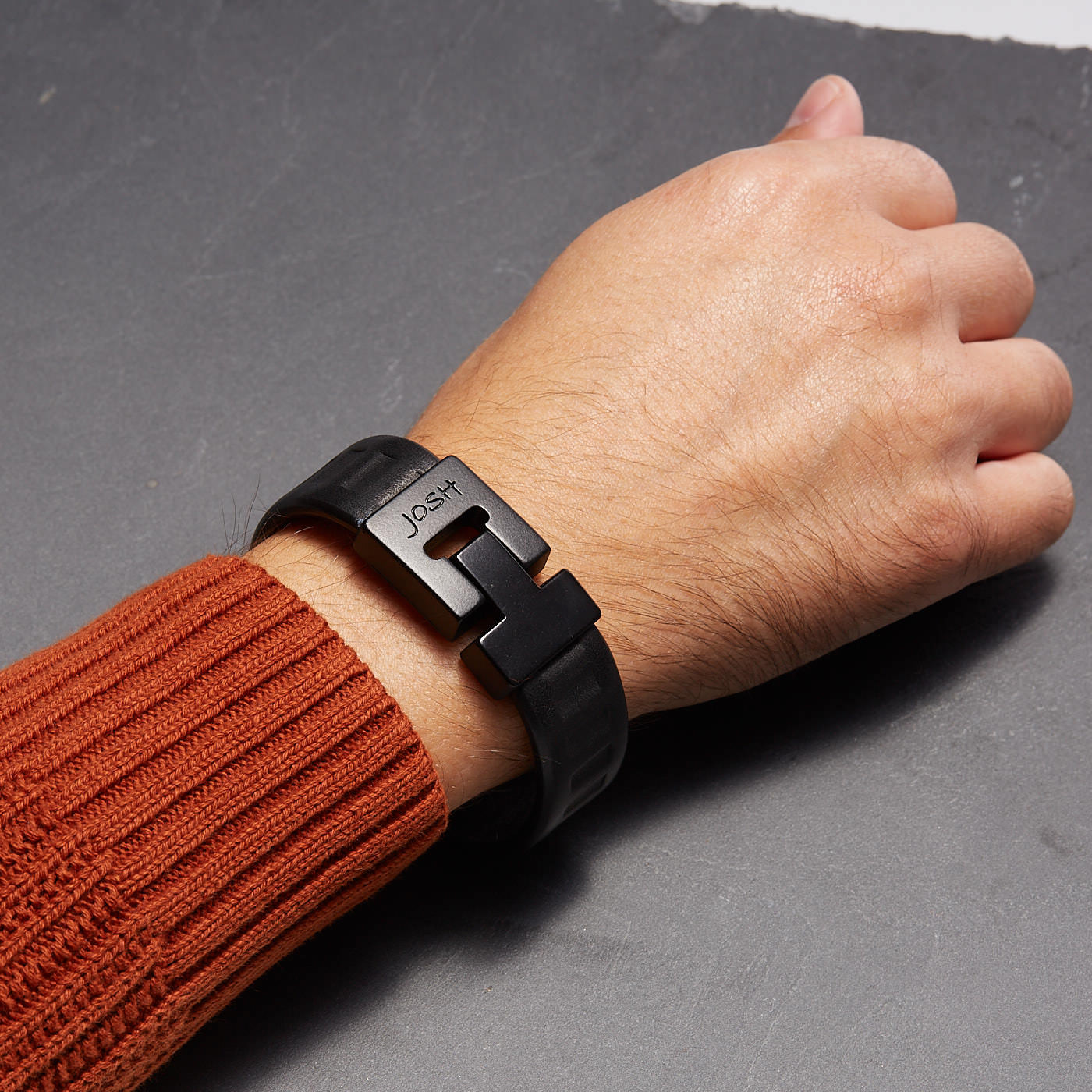 Josh Vintage Black Armband 24738-BRA-VB-BLACK (Lengte: 20.50-22.50 cm)