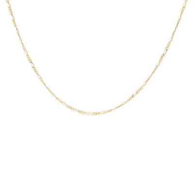 ANNA + NINA 925 Sterling Zilveren Essentials Liana Plain Goudkleurige Ketting 021726GP0000 (Lengte: 53.00 cm)