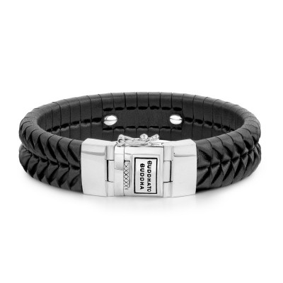 Buddha to Buddha 161BL Komang Leather Black Armband