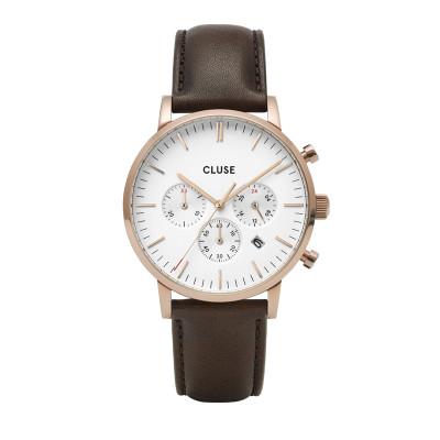 CLUSE Aravis Roségoudkleurig/Brown Chronograaf horloge CW0101502002
