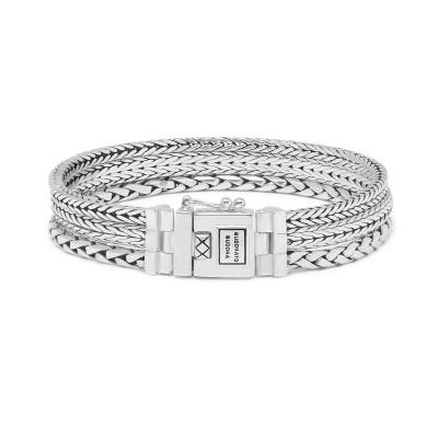 Buddha to Buddha 925 Sterling Zilveren Heritage Triple Mini Armband J104 (Lengte: 17.00-21.00 cm)