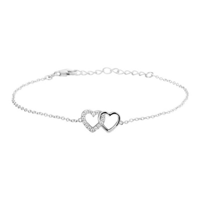 Selected Jewels Zirkonia Heart Armband 1325706 (Lengte: 19 cm)