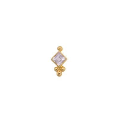 ANNA + NINA 14 Karaat Gouden Solid Gold Single Bindi Stud Oorsteker 18-2M902043G