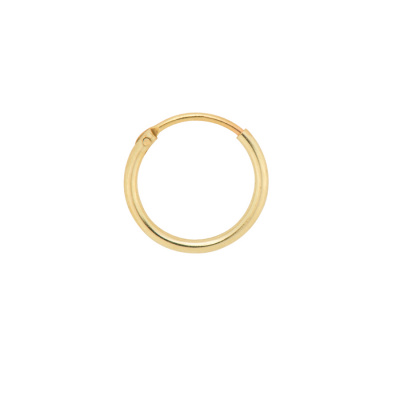 ANNA + NINA 14 Karaat Gouden Solid Gold Single Plain Oorbellen 18-2M902044G