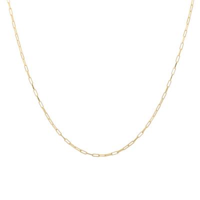 ANNA + NINA 925 Sterling Zilveren Essentials Lifeline Plain Goudkleurige Ketting 18-2M903008GP (Lengte: 53.00 cm)