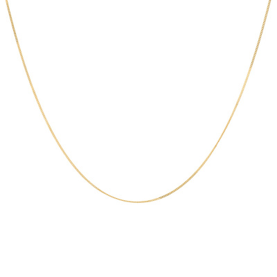 ANNA + NINA 925 Sterling Zilveren Essentials Plain Goudkleurige Ketting 18-2M903031GP (Lengte: 45.00 cm)