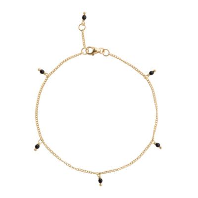 ANNA + NINA 925 Sterling Zilveren Essentials Meteorite Goudkleurige Armband 18-2M907010GP (Lengte: 18.00 cm)